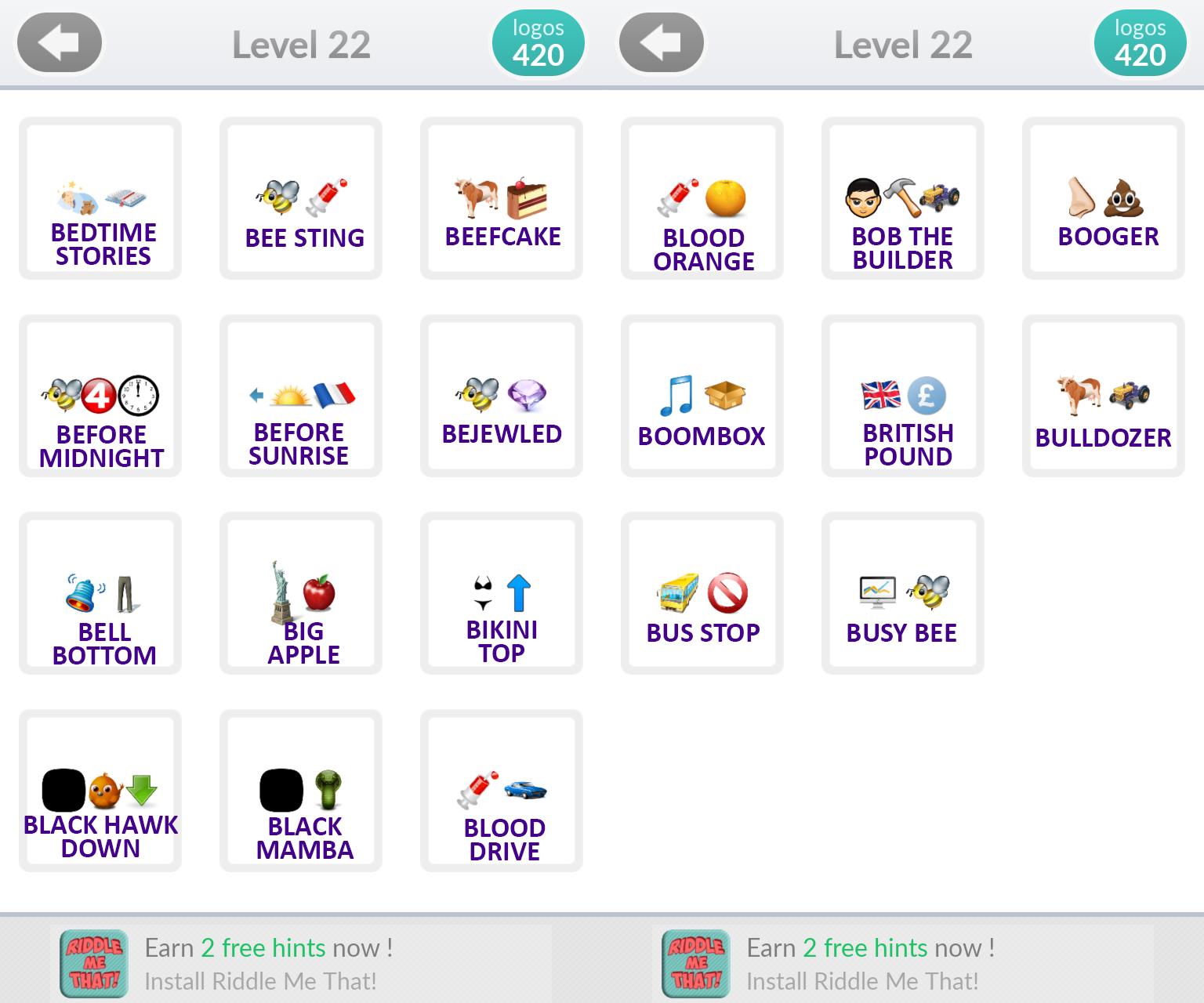 Logo Quiz Emoji Level 22 Answers By Quot Bubble Quiz Games