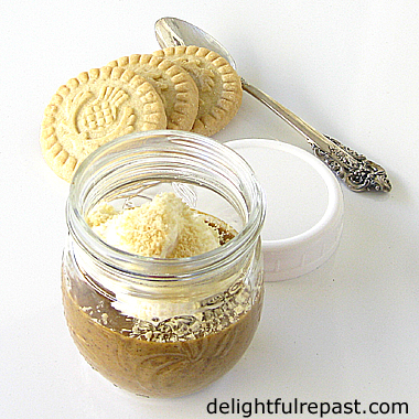 Pumpkin Custards - Individual Crustless Pumpkin Pies (this photo - custard baked in a half-pint jar for picnics or lunchboxes) / www.delightfulrepast.com