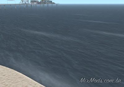 gta sa mod shoreline waves crests ondas água mar sea ocean