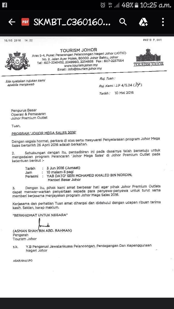 Johor Mega Sales di JPO