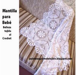 hermoso diseño para tejer mantilla - patrones