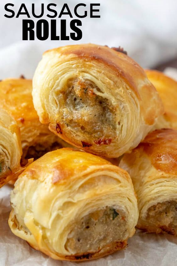 Easy, filling and perfect for parties these Sausage Rolls are savory, meaty and full of just the right amount of spices that they are a hit among party guests!