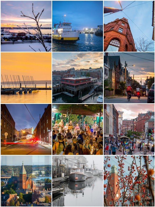 Corey Templeton photography of Portland, Maine USA 2016 in review by month.