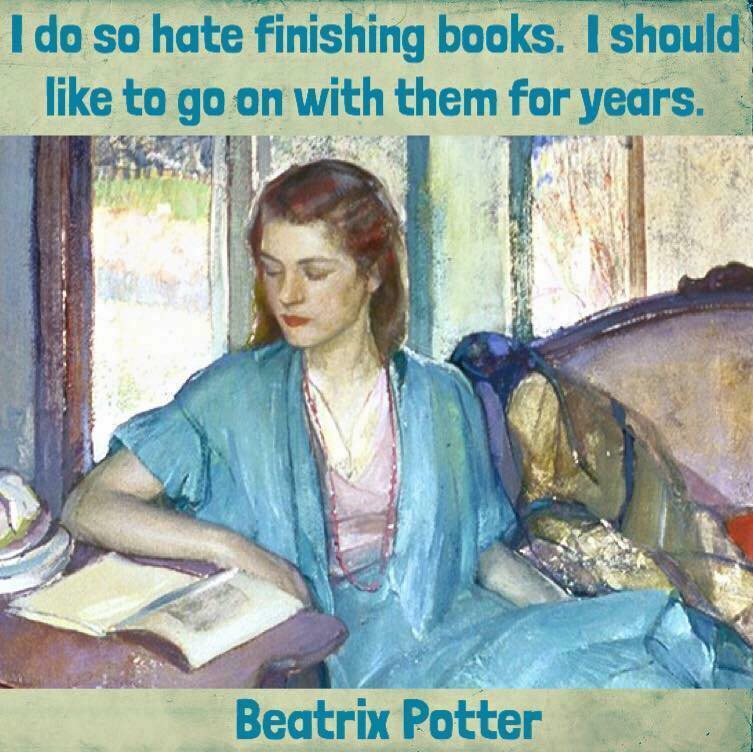 I hate to finish books