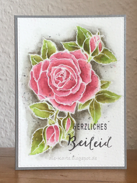"""Timeless Rose"" Stampendous, ""Stille Trauer"" Creative Depot"