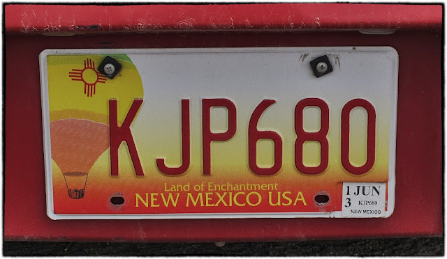 New Mexico number plate
