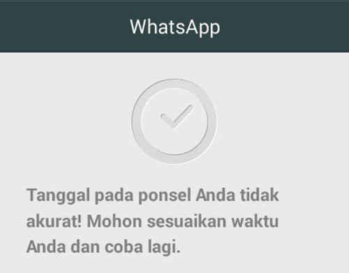 error whatsapp tanggal
