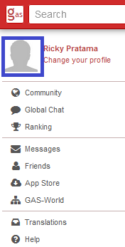 klik avatar untuk mengganti foto profil