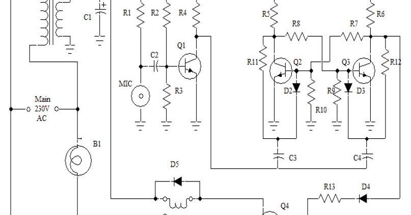 clap switch circuit mini project