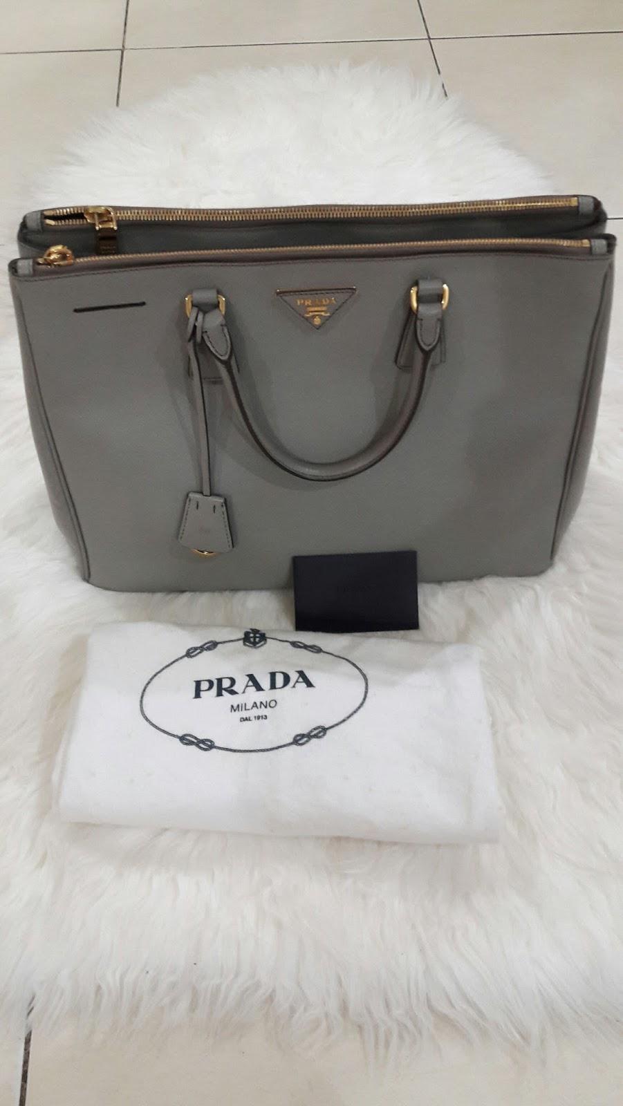 ... handbag new baru original authentic asli murah sale e161f 6eff2  where  to buy prada bag saffiano 2 zipper 064e3 b9527 667c73d361