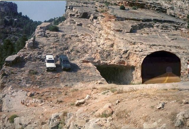 túnel pintado Beceite Beseit
