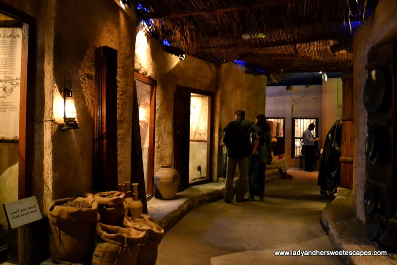 a replica of the Grand Souk inside Dubai Museum