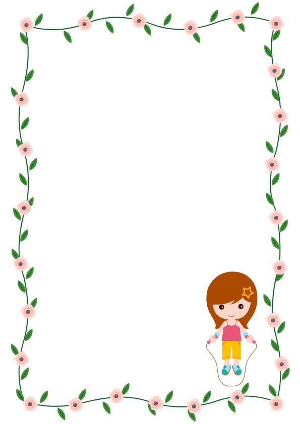 Caratulas de cuadernos para niños y niñas de inicial de rosas con niña
