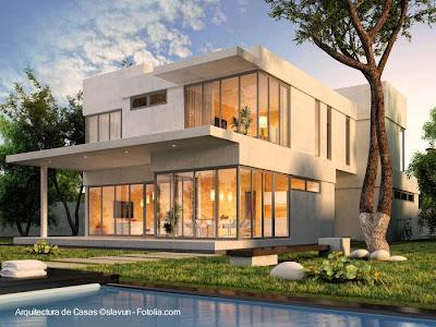 Imagen de renderizado de proyecto de residencia contemporánea