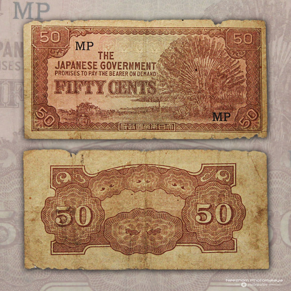 50 cents Japanese Occupation Malaya