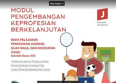 Download Modul PKB Guru PJOK SD Plus PPK Revisi Tahun 2017