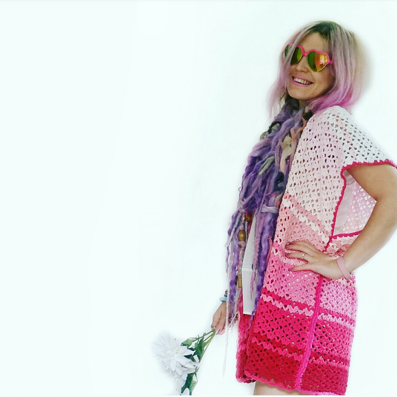 Set Free My Gypsy Soul | a Crochet Craft blog : Pink Ombre Kimono ...