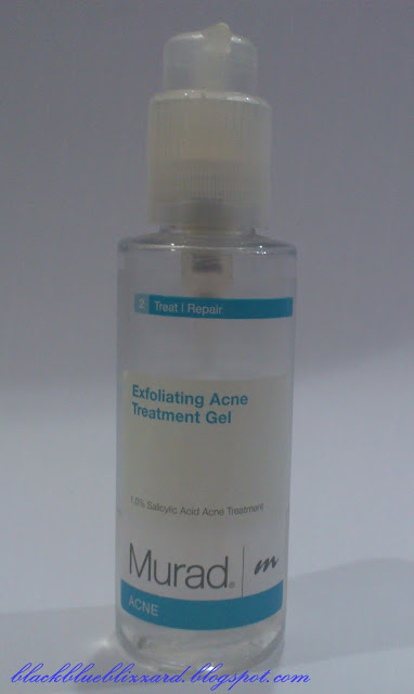 murad, exfoliating acne treatment gel, acne treatment, exfoliating