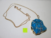 Erfahrungsbericht: Gorudo Schmuck® - Roh-Jasper Gold filled Halskette Golddipping