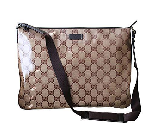 af5595d1c09 Gucci Men s Laptop Sling Messenger Bag 278301 (Brown Crystal GG) 2019