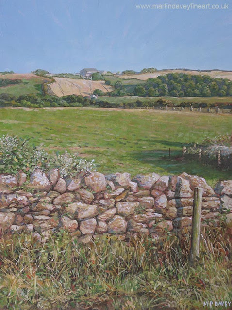 acrylic art devon countryside Martin Davey