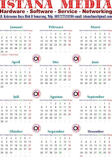 Desain Kalender Menggunakan Inkscape - Istana Media Go ...