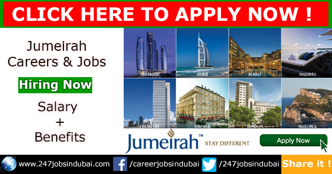 Jobs in UAE at Jumeirah Jobs and Careers