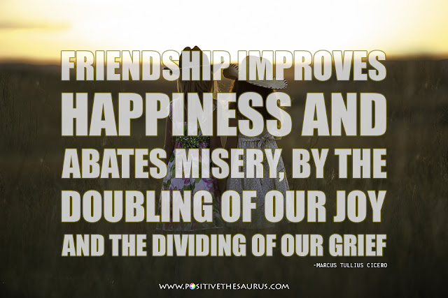 happiness quote by marcus tullius cicero girls at field