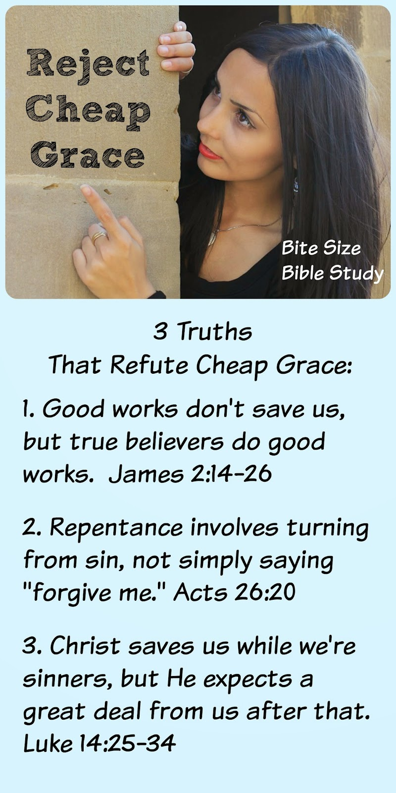 cheap grace, misunderstandings Christians Have, good works, repentance, God's love, half-hearted devotion to Christ