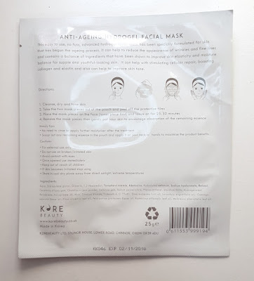 Korebeauty Anti-Ageing Hydrogel Facial Mask