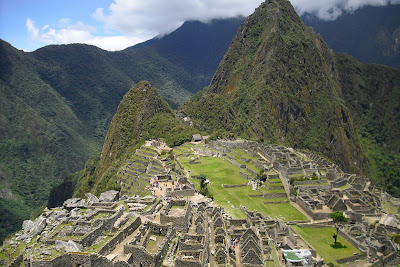 An aerial view of Machu Picchu - the famed Inca site in Peru's Cusco region