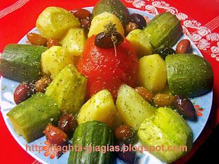 Βραστά λαχανικά σαλάτα - από «Τα φαγητά της γιαγιάς»