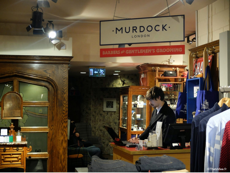 Murdock Barber Shop Liberty Londres sépcialiste barbe moustache peigne brosse lotion lait wax cire
