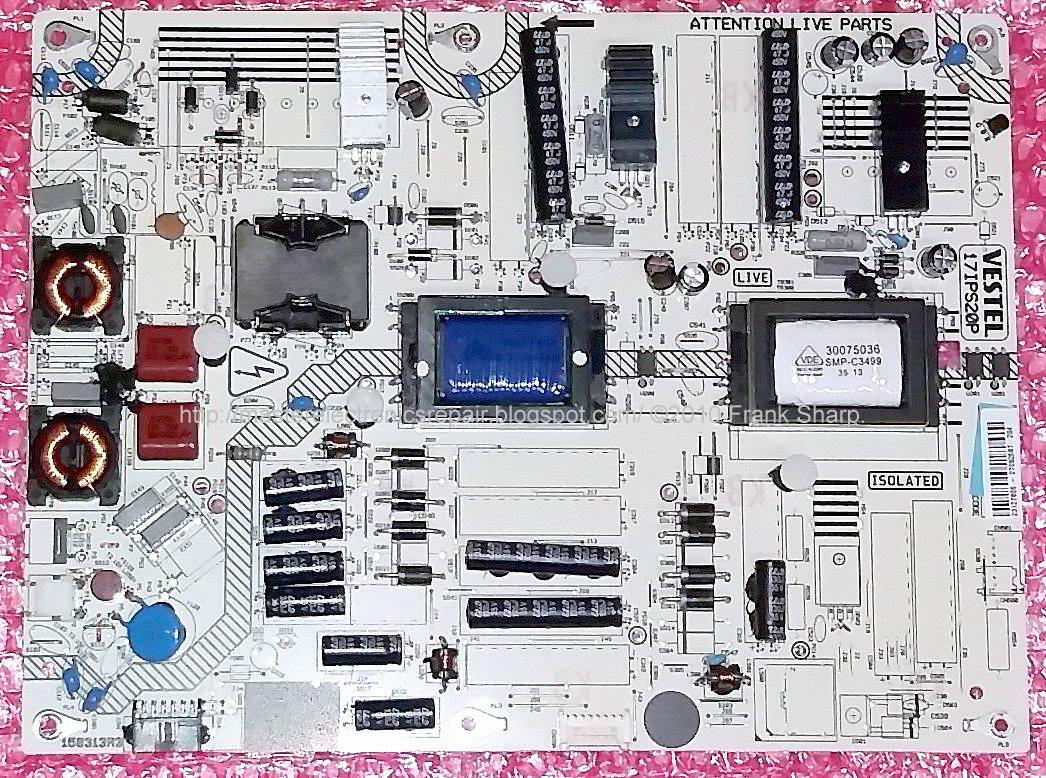 Master Electronics Repair    Vestel 17ips20 Power Board