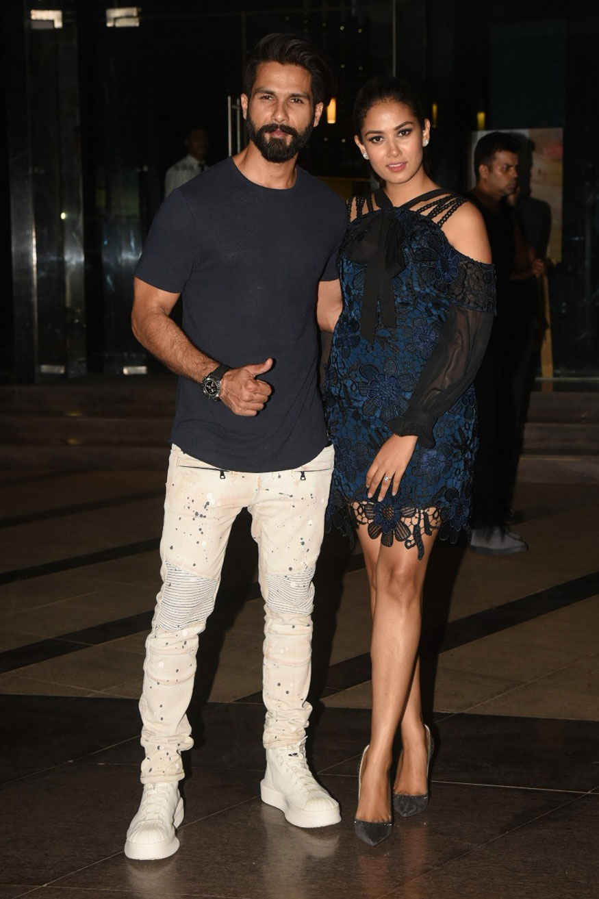 Shahid Kapoor and Mira Kapoor at Yauatcha in Bandra Kurla Complex