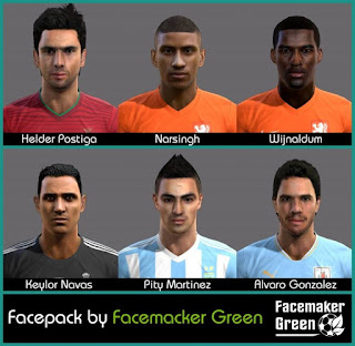 Facepack Pes 2013 by Green