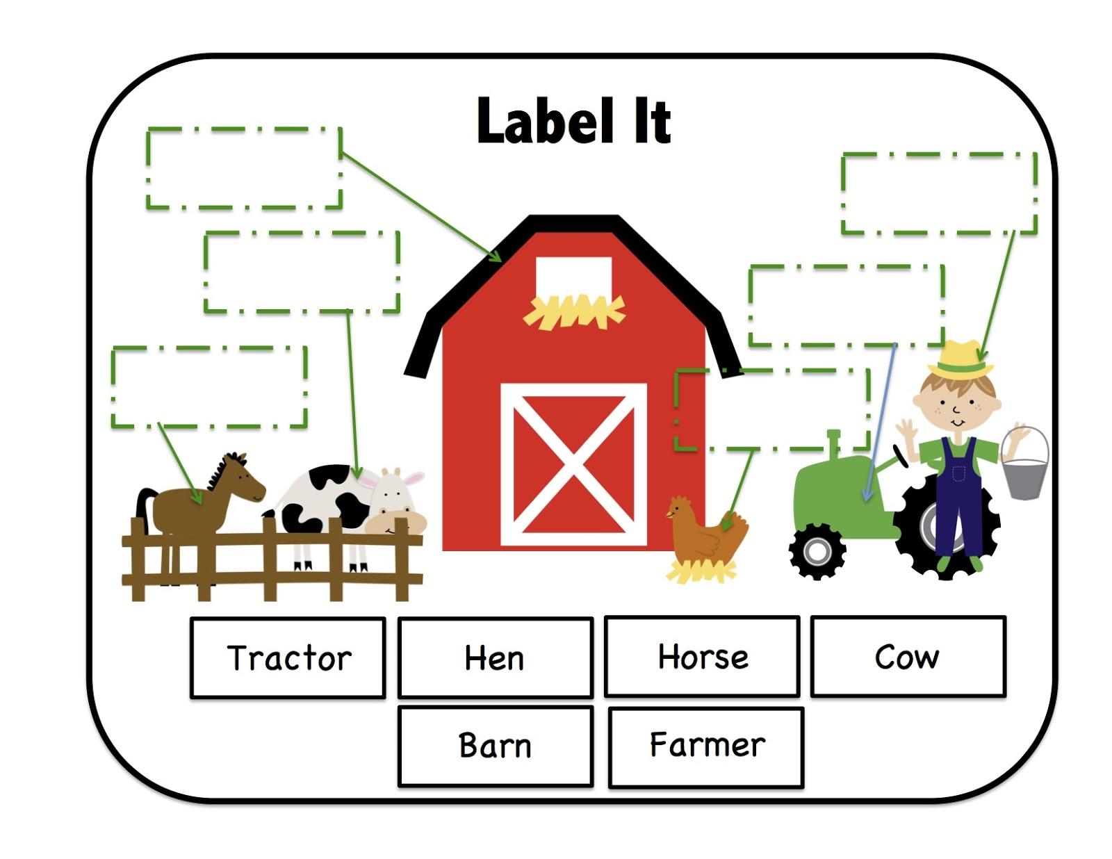 Down on the Farm Printable ~ Preschool Printables