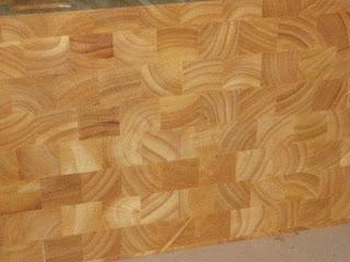 Ván ghép gỗ cao su thớ lật