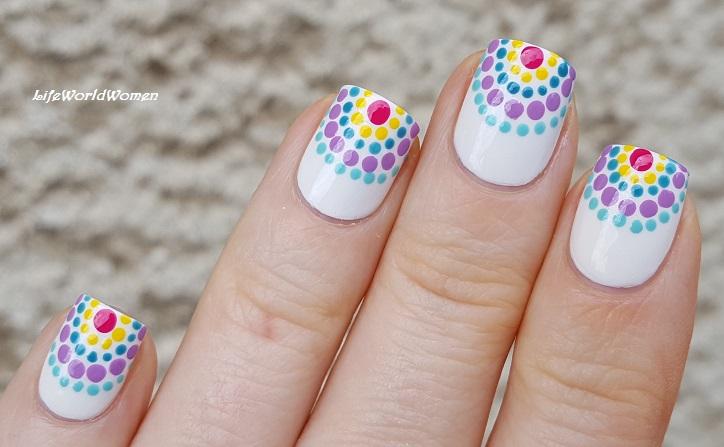 Life World Women: Summery Dotticure Nail Art Using Toothpick