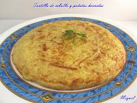 Tortilla de cebolla y patatas hervidas