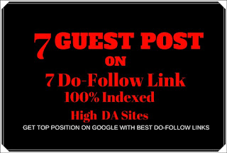 7 High Quality Dofollow Guest Post Service - SEO Service