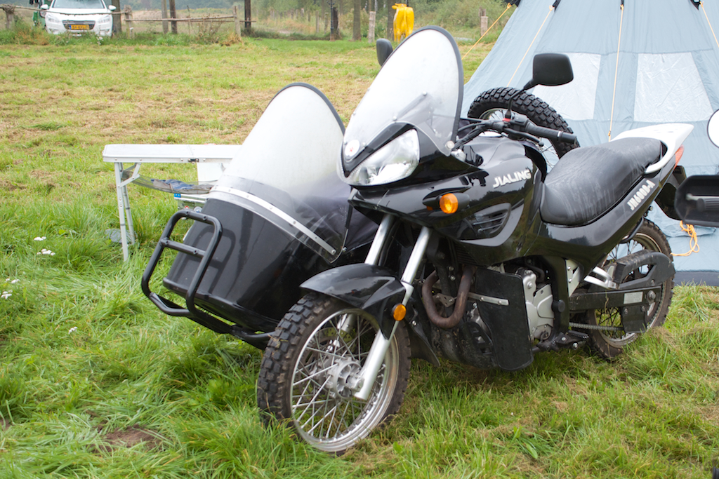 2 Motorräder Exzellente QualitäT Blech Mini Motorrad Und Motorrad Mit Beiwagen