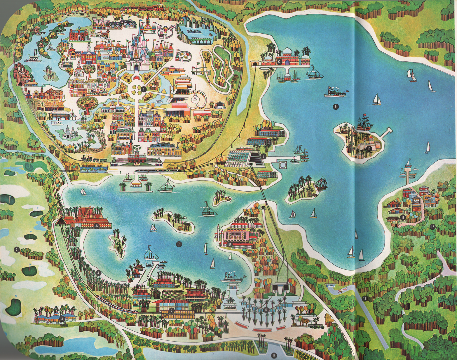 Charming The 1971 Walt Disney World Map: A Detailed Look At Bay Lake