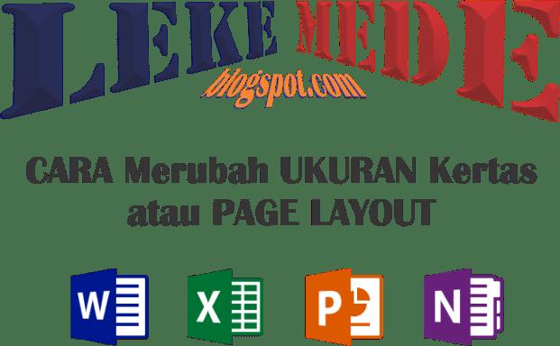 Cara Mengatur atau Ukuran Kertas Page Layout