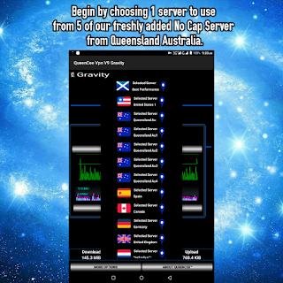 QueenCee VPN v9 apk gravity