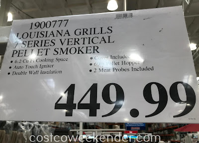 Deal for the Louisiana Grills 7 Series Wood Pellet Vertical Smoker at Costco