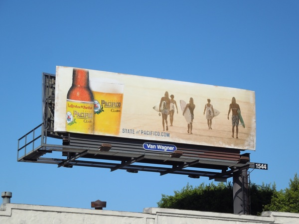 State of Pacifico beer billboard