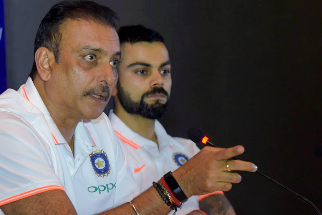 Coach Ravi Shastri with Captain Virat Kohli