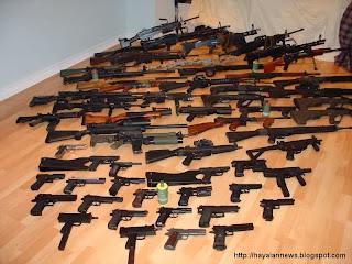Polisi sita puluhan senjata