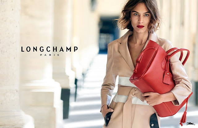Alexa Chung smoulders for Longchamp's Spring/Summer '16 Campaign